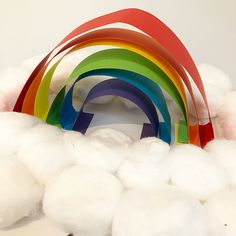 3D RAINBOW  Little miss loved making this easy peasy rainbow sculpture. We definitely needed some colour on this grey day! #thatnannylife #nannylife #nannylove #nanny #work #3dsculpture #rainbow #greyskies #artsandcrafts #colourful #texturedart #childrensactivities #childrensart #cloud #3D #eyfs #creative