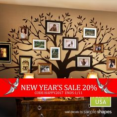 End Of Year Sale Wall Decal Family Tree Wall by SimpleShapes