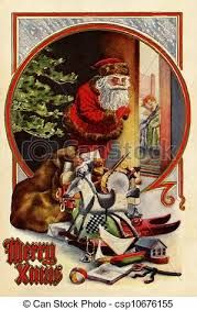 Image result for old fashioned santa claus clip art
