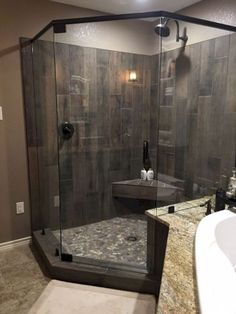 80 stunning tile shower designs ideas for bathroom remodel (24)