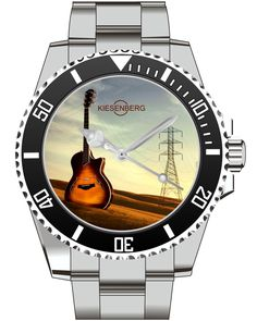 Guitar Gift  Watch Kiesenberg  - Men Watch Jewelry Guitar Gitarre Guitarist Gift Present for Men- Watch 1993 von UHR63 auf Etsy