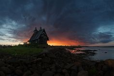 """500px / Photo """"The old church on the coast of White sea"""" by Sergey Ershov"""