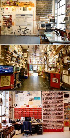 Casey Neistat's Chinatown studio ( http://scenemag.com/2013/11/casey-neistat-studio-visit/ )