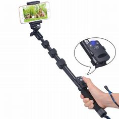 "Find More Selfie Sticks Information about Bluetooth Selfie Stick for Cell Phones GoPro Hero/Hero4/3+/3/2/1 HD Cameras 1/4"" Threaded Hole Compact Camera Smartphones tripod,High Quality stick with you mp3,China stick painting Suppliers, Cheap stick tea from Neuss Store on Aliexpress.com"