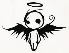 Gothic Dark Fallen Angel Of Death Vinyl Decal - Car Window Bumper Sticker Black Angel Of Death Tattoo, Fallen Angel Tattoo, Guardian Angel Tattoo, Laptop Decal Stickers, Bumper Stickers, Vinyl Art, Vinyl Decals, Car Decals, Gotik Tattoo