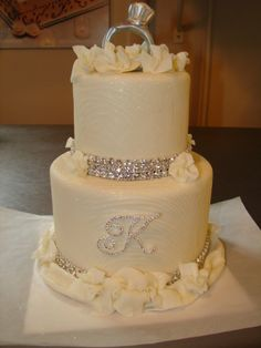 bling wedding cakes | Bling + Creativity = The Perfect Wedding Cake | Couture Cake Jewelry ...