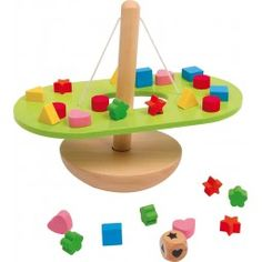 This super balancing See saw is great for problem-solving and fine motor skills. Age appropriate for adults or children. Also can be used for shape or colour matching. Rest the pieces on the green section and balance the Seesaw! Balloon Games For Kids, Seesaw, Montessori Toys, Creative Play, Imaginative Play, Wood Toys, Diy Toys, Educational Toys, Diy And Crafts