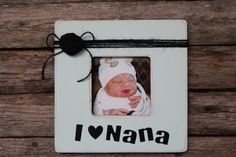 Nana Picture Frame Mint Green Photo Frame Rustic by MyRusticPlace