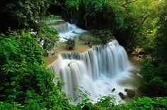 Open Air - The King of waterfall in Thailand   Kanchanaburi province, Thailand