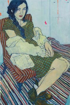 "Hope Gangloff - Catherine Despont, 2012. Acrylic/canvas, 72"" by 48""."