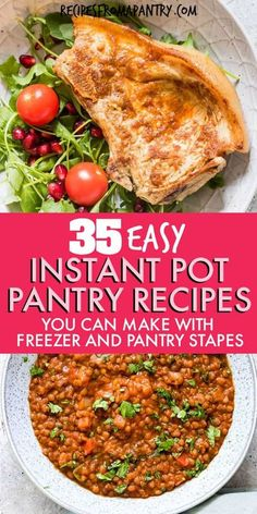 These Instant Pot Pantry meals are made using simple everyday pantry staples & store cupboard staples! These Instant Pot Recipes are exactly what you need for quick, easy & budget meals the family will love. Mix and match to make an easy meal plan with what you already have in your pantry, freezer and fridge ! Includes vegan, gluten free recipes. Click through to get these awesome Instant Pot Pantry Recipes!! #instantpot #instantpotrecipes #pantrystaples #pantrymeals #pantry #storecupboard Best Instant Pot Recipe, Instant Pot Dinner Recipes, Supper Recipes, Lunch Recipes, Appetizer Recipes, Beef Recipes, Soup Recipes, Breakfast Recipes, Chicken Recipes