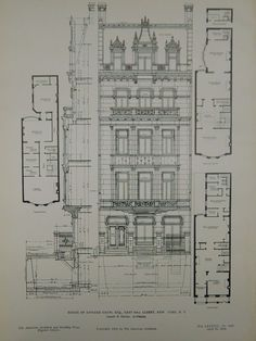 Elevation, House of Edward Thaw, Esq., New York, NY, 1905, Original Plan