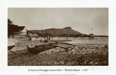 In Front of Outrigger Canoe Club, Waikiki Beach, Hawaii, 1917 Prints at AllPosters.com