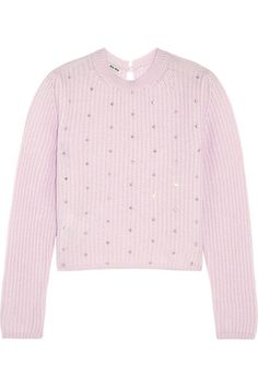 Pastel-pink cashmere Button-fastening keyhole at back cashmere; Cable Knit Jumper, Cashmere Cardigan, Ribbed Sweater, Cashmere Sweaters, Cropped Sweater, Sparkly Crop Tops, Sparkly Sweater, Pink Sweater, Pink Sparkly