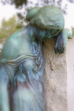 "This is probably pretty to other people but it terrifies me. Has anyone else seen ""Blink""? The angels have the phonebox people. (Hiller Memorial, Metaire Lake Lawn Cemetery, Louisiana)"
