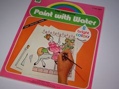 Paint with water books...and the colour magically appeared!