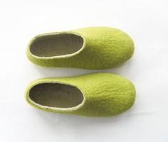 Relax Get a Good Green Tea Felt Shoes Green with Sole by ekohaus, $87.00