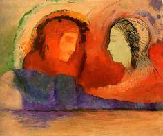 Odilon Redon:  Dante e Beatrice (1924)