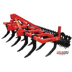 13 Tines Chisel Plough With Roller