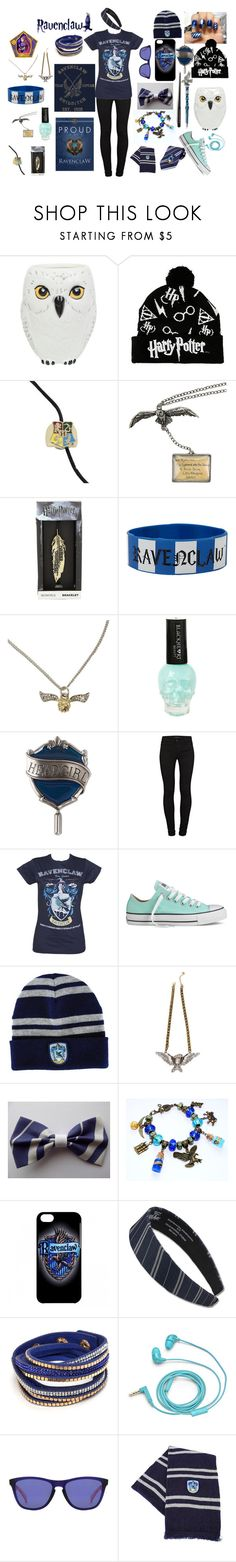 """""""Ravenclaw Pride"""" by destiny-ellis-1 on Polyvore featuring J Brand, Converse, FOSSIL, Oakley and harrypotter"""