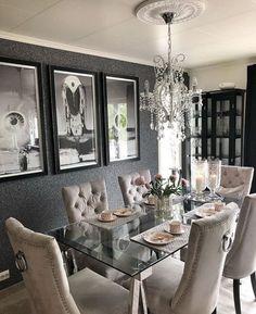 Annabelle Dining Table In 2019 Glammed Up Sala De Jantar