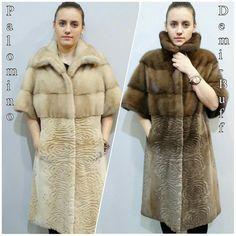 ur CoatReal Fur CoatShort Sleeve CoatMink by FilimegasFurs on Etsy Mink Colour, Winter Fur Coats, Mink Fur, Sleeves, Model, Jackets, Etsy, Black, Fashion