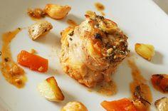 Recette Pied Noire Rables de lapin farcis aux olives, sauces tomates au vinaigre...