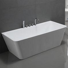 Free standing bath tub Freistehende Badewanne SYLT Badmöbel Badezimmer Armatur Chrom Wanne Acryl in Heimwerker, Bad & Küche, Badewannen | eBay