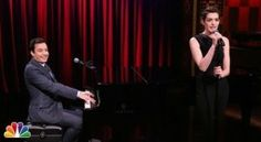 Who Wants to See Anne Hathaway Sing Broadway Versions of Rap Songs? [VIDEO]