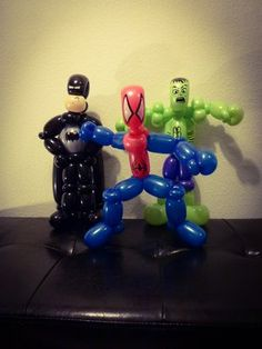A New Twist Balloons and Face Painting - Superhero balloon animals by Marcus <br><br>Batman, Spiderman, and Hulk - San Jose, CA, United States