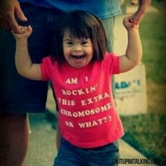 Rocking that extra chromosome // nuff said // kid // Down syndrome I Smile, Make Me Smile, Down Syndrome, Jolie Photo, Faith In Humanity, Just Love, In This World, Cute Kids, I Laughed