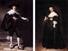 Rembrandt - Portraits of Maarten Soolmans and his wife Oopjen Coppit, 1634 - bought from the de Rothschild family for 160 million euro's. More money for the nwo