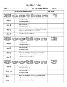 Worksheet Bridge To Terabithia Worksheets student centered resources language and on pinterest novel study packet key for bridge to terabithia paterson level t