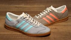 PRE-ORDER HAMBURGS FOR SPRING/SUMMER 2015 FINISHED IN CLEAR ONYX/CLEAR AQUA/CHALK WHITE AND St CARGO KHAKI/SEMI-FLASH ORANGE/CHALK WHITE --- BOTH ARE NAILED ON CERTAINTIES FOR THE ADIDAS OG COLLECTOR