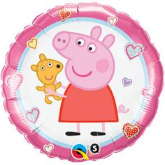 "18"" Round Peppa Pig Foil Mylar Balloons birthday party supplies table decorations favors on Etsy, $2.89"