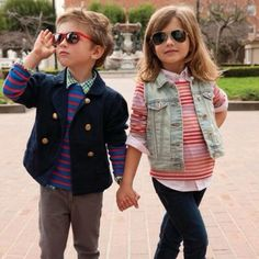 Little fashion models. Cool Baby, Stripes Fashion, Fashion Kids, Lulu Fashion, Fashion Outfits, Cute Kids, Cute Babies, Estilo Preppy, Little Fashionista
