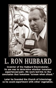 Funny Ron Hubbard Scientology Vegetables