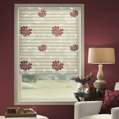 We adore Laura Ashley Roller Shades in Isadore. Honeycomb Blinds, Honeycomb Shades, Cellular Blinds, Cellular Shades, Blinds For Windows, Windows And Doors, Modern Window Treatments, Living Room Blinds, Roller Shades