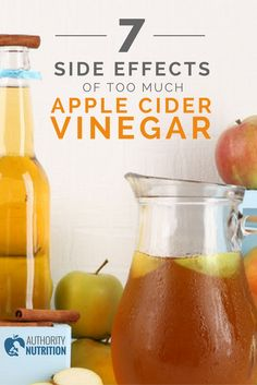 Apple cider vinegar can improve your health and help you lose weight, but taking too much can be harmful and cause several serious side effects. Learn more here: https://authoritynutrition.com/apple-cider-vinegar-side-effects/
