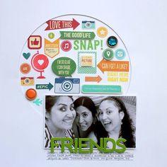 Friends layout by Carolina Schulz featuring Jillibean Soup Spicy Social Soup - Soup Spotting