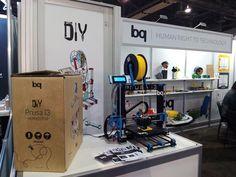 La impresora 3D Prusa i3 Hephestos y los kits de robótica de bq en el International CES de Las Vegas (enero de 2015) #CES2015