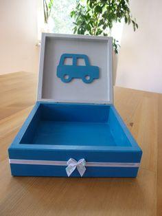 drewniane pudełeczko dla chłopca-środek  #handmade #decoupage #box