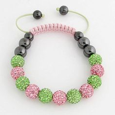 a shambala bracelet good colour combinations pink and green a real one