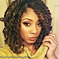 Double strand twists on natural hair