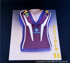 Melbourne Storm Female Jersey Cake