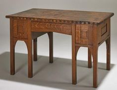 "Gustav Stickley Eight Leg Writing Desk No. 417 as shown in the 1901 ""Chips from the Workshop"" catalog."