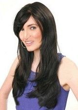 Perfect Black 20 Inch Remy Hair Lace Front Straight Wig
