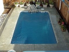This is one of our least expensive Small Fiberglass Pools - Beautiful.  Tropicana 1a