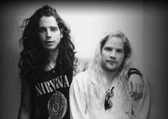 Chris Cornell and Andrew Wood one of my all time favorite photos. Rip andy wood. Mother love Bone. Soundgarden.
