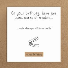 Handmade Funny Birthday Card False Teeth By LeannejeanGraphics Cards Bday
